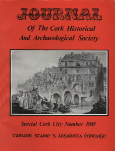 Dustjacket of the Special Cork City Number of JCHAS 1985